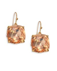 Tory Burch   Multicolor Tory-set Crystal Drop Earrings   Lyst