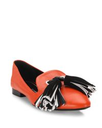 Proenza Schouler | Red Tassel Leather Loafers | Lyst