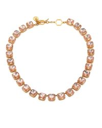 Tory Burch | Metallic Crystal Stone Short Necklace | Lyst