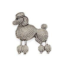 Marc Jacobs | Metallic Large Poodle Crystal Brooch | Lyst