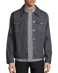A.P.C.   Gray Blouson John Gris Denim Jacket for Men   Lyst