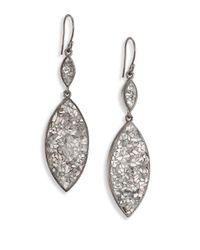Shana Gulati | Metallic Marquis Raw Sliced Diamonds & Sterling Silver Double-drop Earrings | Lyst