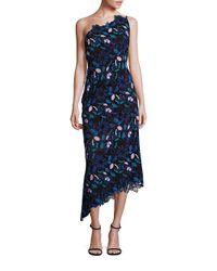 Laundry by Shelli Segal   Black Platinum One-shoulder Floral Lace Dress   Lyst