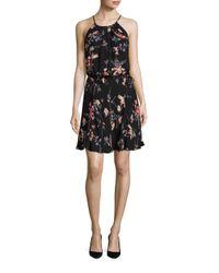 Joie | Multicolor Makana Ikat Floral Print Silk Halter Dress | Lyst