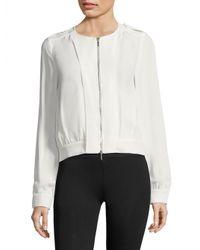 Armani | White Zip Front Jacket | Lyst
