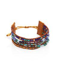 Chan Luu | Multicolor Multi Bead Mix Leather Strand Bracelet | Lyst