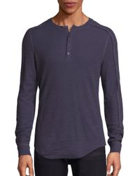 VINCE | Multicolor Long Sleeve Thermal Knit Henley for Men | Lyst