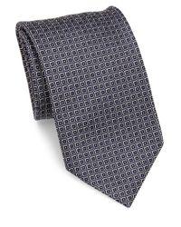 Brioni | Blue Square Patterned Silk Tie for Men | Lyst