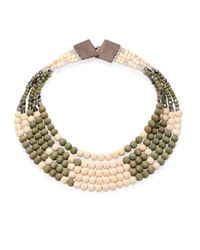 Peserico - Natural Multi-strand Beaded Necklace - Lyst