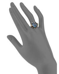 Alexander McQueen - Metallic Skull Crystal Ring - Lyst