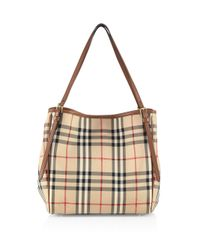 Burberry | Brown Canter Check Tote | Lyst
