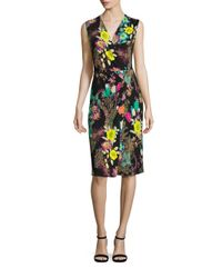 Etro | Black Floral Paisley Dress | Lyst