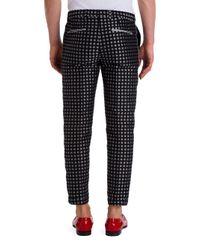 Dolce & Gabbana   Black Circle Print Pants for Men   Lyst
