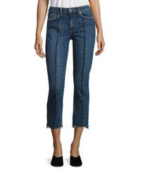 PAIGE | Blue Julia Vintage High-rise Step Hem Jeans | Lyst