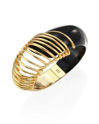 Alexis Bittar | Metallic Coiled Lucite Hinge Cuff | Lyst