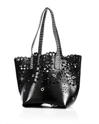 Marc Jacobs - Black Embellished Laser-cut Leather Tote - Lyst