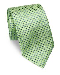 Charvet | Green Small Micro Pattern Silk Tie for Men | Lyst