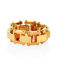 Lele Sadoughi | Metallic Golden Cove Bracelet | Lyst
