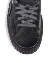 PUMA | Gray Fenty X Rihanna Velvet Creeper Platform Sneakers | Lyst