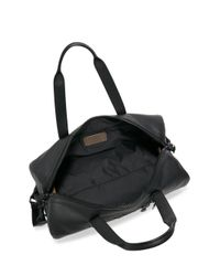 COACH - Black Metropolitan Polished Pebble Leather Duffle Bag for Men - Lyst