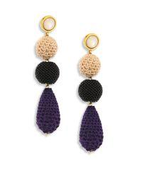 Lizzie Fortunato   Multicolor Siesta Mother-of-pearl & Crochet Drop Earrings   Lyst