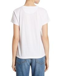 Valentino - White Garden Of Delight Embroidered Tee - Lyst