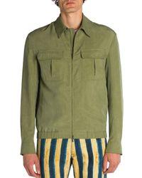 Fendi - Green Solid Jacket for Men - Lyst
