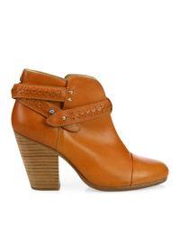 Rag & Bone - Brown Harrow Leather Booties - Lyst