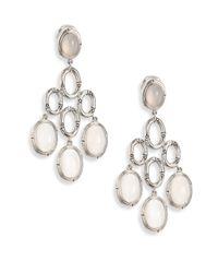 John Hardy | Metallic Bamboo White Moonstone & Sterling Silver Chandelier Earrings | Lyst