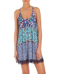 In Bloom | Blue Heathercliff Floral-printed Chemise | Lyst