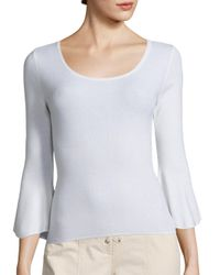 A.L.C. | White Tadeo Bell Sleeve Top | Lyst