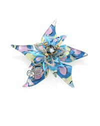 Alexis Bittar   Blue Lucite Poppy-print Flower Brooch   Lyst