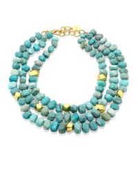 Nest   Blue Amazonite Triple Strand Necklace   Lyst