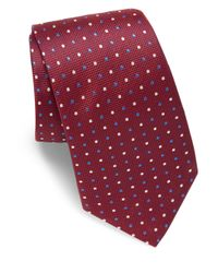 Eton of Sweden | Red Two-tone Dotted Silk Tie for Men | Lyst