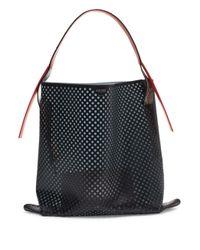 KENZO   Black Rizo Large Leather Hobo Bag   Lyst
