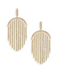 Adriana Orsini | Metallic Pave Fringe Drop Earrings | Lyst