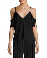 T By Alexander Wang | Black T By Lux Ponte Top | Lyst