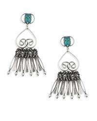 DANNIJO | Metallic Vert Crystal Fringe Drop Earrings | Lyst