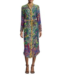 Saloni | Multicolor Molly Silk Dress | Lyst