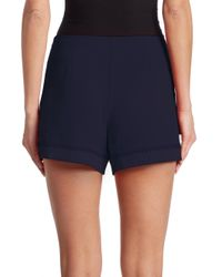 Trina Turk - Blue Link 2 Crepe Shorts - Lyst