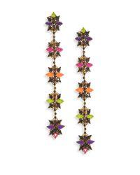 Erickson Beamon | Multicolor Technicolor Crystal Linear Earrings | Lyst