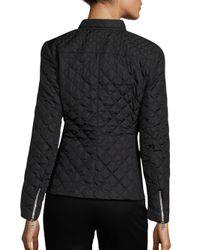 Weekend by Maxmara - Black Plinio Diamond-quilted Jacket - Lyst
