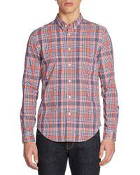 Lacoste | Multicolor Slim-fit Poplin Woven Plaid Shirt for Men | Lyst