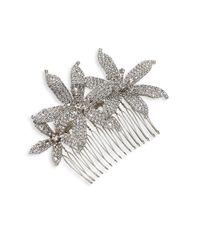 Jennifer Behr   Metallic Frances Crystal Orchid Comb   Lyst