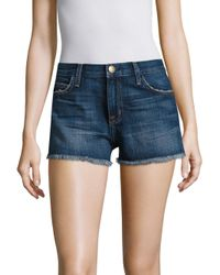 Current/Elliott | Blue Cut-off Denim Shorts | Lyst
