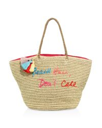 Rebecca Minkoff | Natural Beach Hair Don't Care Straw Tote | Lyst