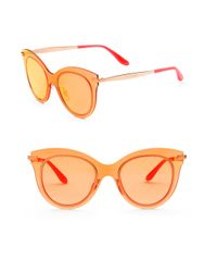 Dolce & Gabbana | 51mm Mirrored Cat Eye Sunglasses | Lyst