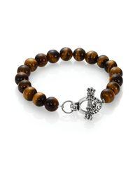 King Baby Studio | Brown Tiger's Eye Beaded Bracelet for Men | Lyst