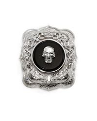 Alexander McQueen | Black Skull Brooch for Men | Lyst