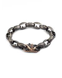 Stephen Webster   Metallic Steel Link Bracelet for Men   Lyst